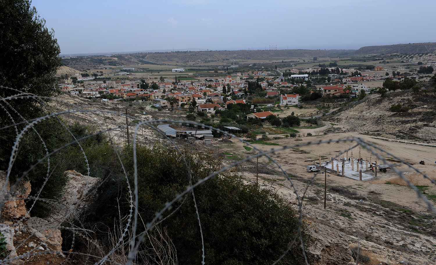 United Nations Observation Post, OP-126, overlooks the village of Pyla, pictured on November 24, 2008. Pyla is located inside the Buffer Zone between the Greek and Turkish regions of Cyprus. Photo: Master Corporal Robert Bottrill, Canadian Forces Combat Camera. © 2008 DND/MDN Canada.