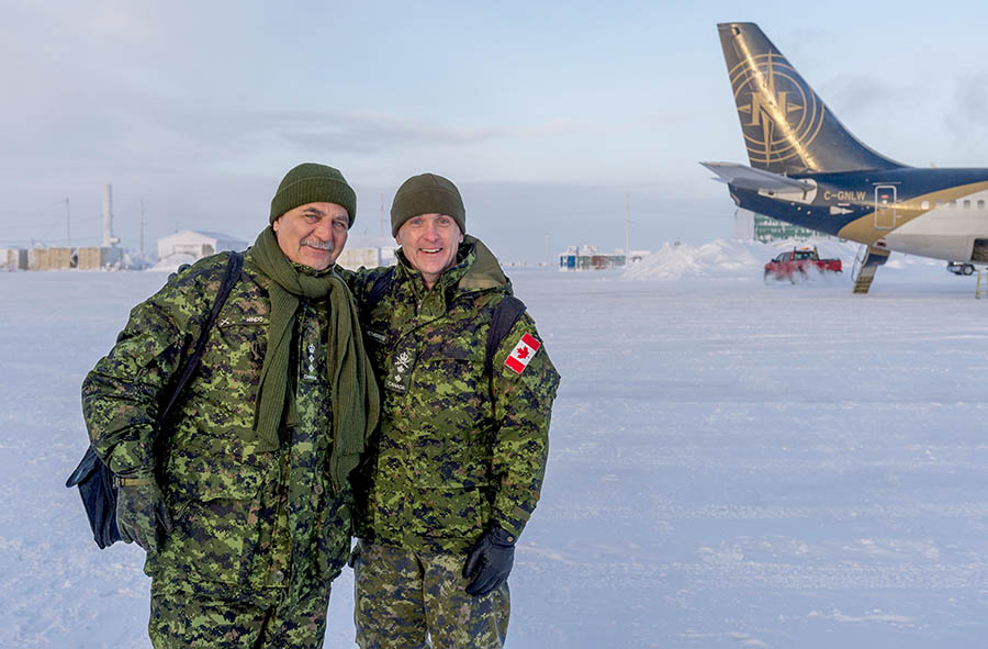 Honorary Colonel of the Canadian Army Paul Hindo, along with Major General Simon Heatherington, recently visited the Canadian Armed Forces' Arctic Training Centre.