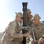 The 81-mm mortar.
