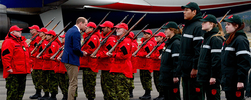 Slide - His Royal Highness, Prince William inspects Quarter Guards of the Canadian Rangers and Junior Canadian Rangers