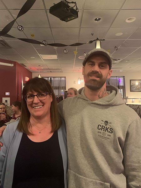 Carole Richer with her son MCpl Danny Losier
